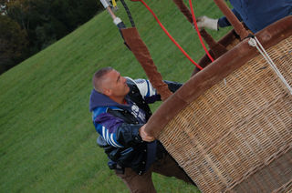 Balancing the balloon and basket with the wind..